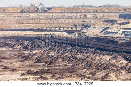 Opencast Brown Coal Mine. Open Pit.