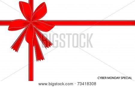 Cyber Monday Special Card with Red Ribbon