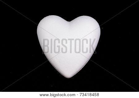 White Polystyrene Heart