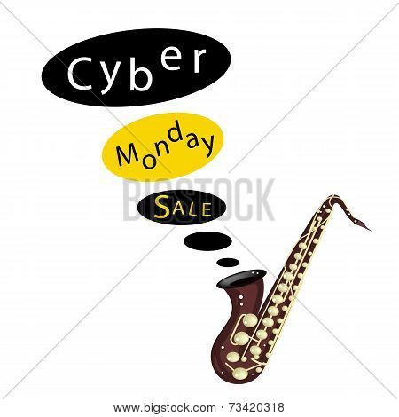 Musical Bass Saxophone Playing Cyber Monday Sale