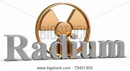 Radium chemical element with symbol Radiation