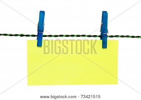 Clothes Pin Note