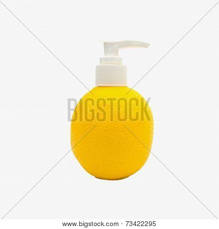 Dispenser Pump  Plastic Bottle With Orange Shape
