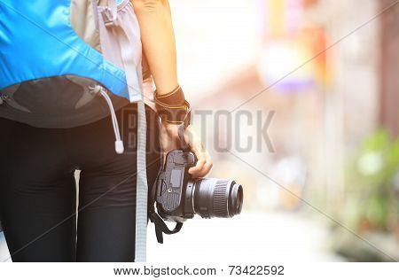 woman photographer outdoor
