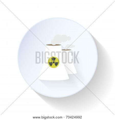 Nuclear Power Station Flat Icon