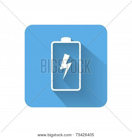 Flat Battery Icon. Vector Illustration