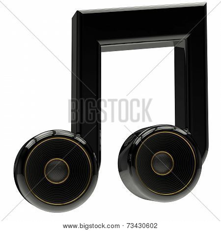 Musical Notes With Speaker