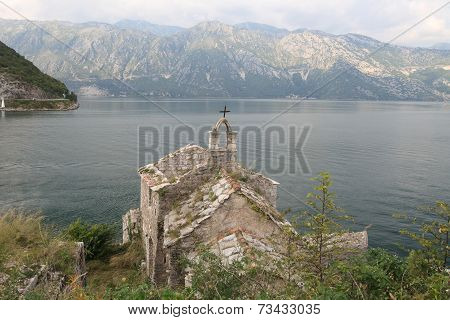 Church Of Our Lady Of Angels. Bay Of Kotor Montenegro