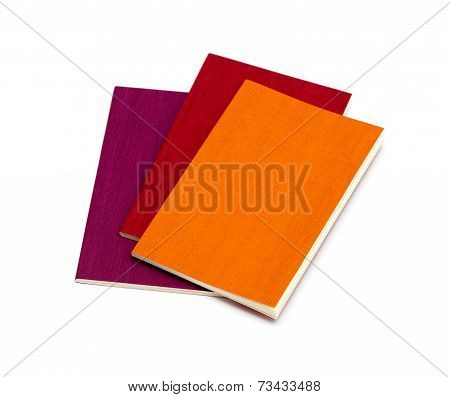 Mini Pocket Note Book Isolated On White Background