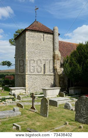 St.Wulfrans Church. Ovingdean, Sussex, Uk