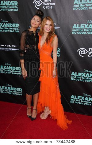 LOS ANGELES - OCT 6:  Zendaya Coleman, Bella Thorne at the