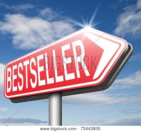 bestseller top product, most wanted item best selling book and most popular item