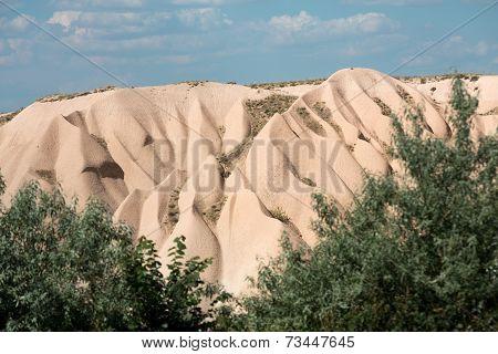 Volcanic rock landscape Goreme Cappadocia Uchisar Turkey