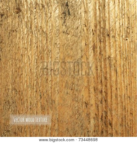 Wooden Background, Vector Illustration