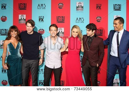 LOS ANGELES - OCT 5:  Lea Michele, C Overstreet, K McHale, Becca Tobin, D Criss, Jacob Artist at the