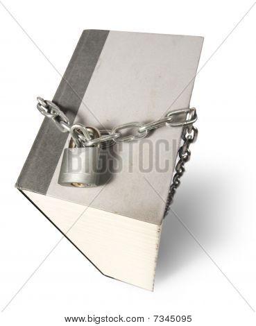 padlocked book