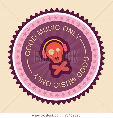 Music Round Label