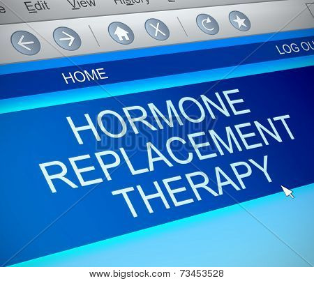 Hormone Replacement Therapy Concept.