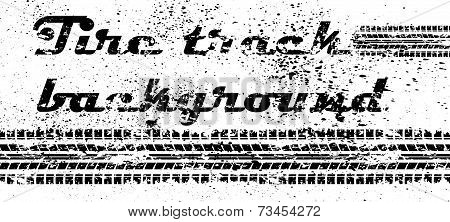 Tire track grunge background
