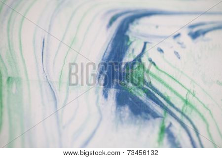 Linear abstract background in green and blue
