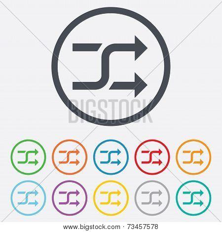 Shuffle sign icon. Random symbol.