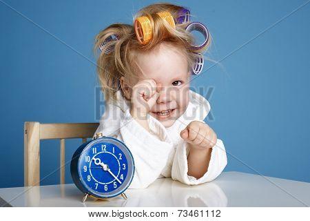 cute little girl on morning