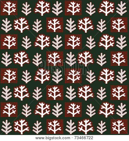 Winter abstract floral wallpaper
