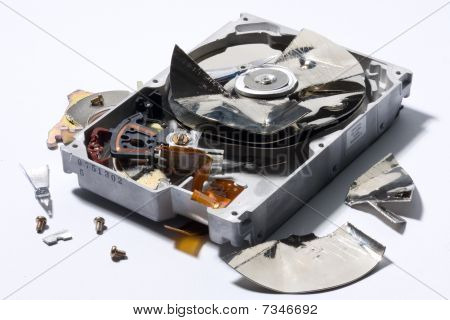 Destroyed Computer Device
