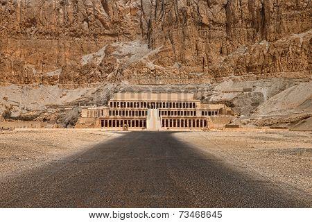 The temple of Hatshepsut near Luxor in Egypt