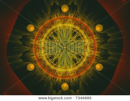 Abstract Fractal Spiritual Design Casino