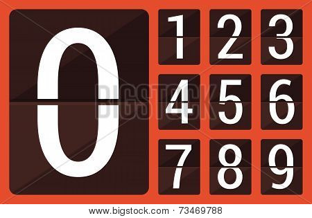 Flat countdown number