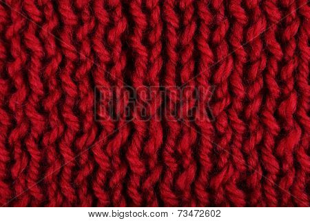 Knitted fabric background close up