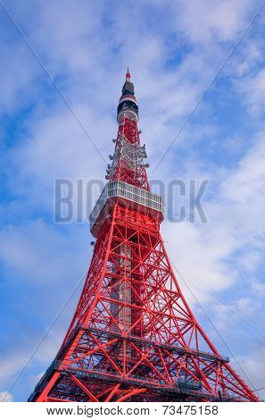 Tokyo,JAPAN - January 7: Tokyo Tower during the day. Tokyo Tower is a communications and observation tower located in the Shiba-koen district of Minato, Tokyo, January 7, 2014 in Japan.