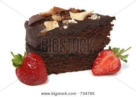 Chocolate cake and Strawberry