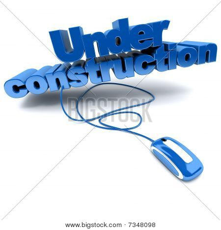Web Under Construction In Blue