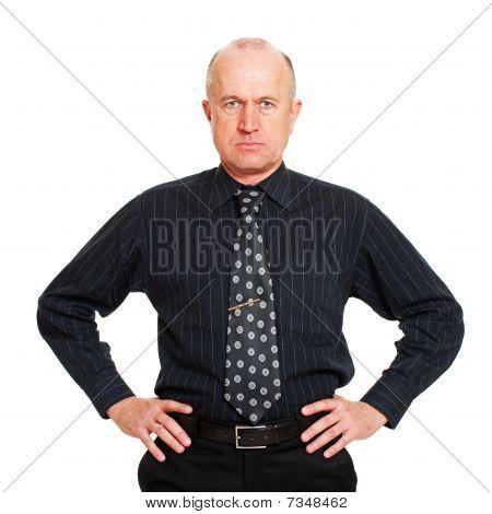 Portrait Of Man In Black Shirt