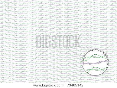 Purple And Green Guilloche Background