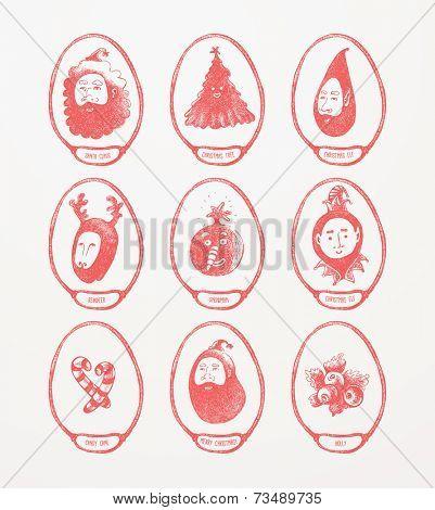 Christmas Theme Medallions