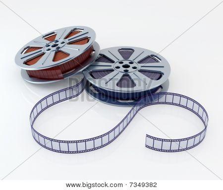 Cinema film reels