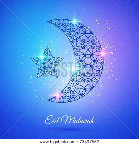 Moon for Muslim community festival Eid Mubarak