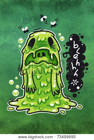Cartoon Nausea Monster