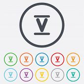 picture of roman numerals  - Roman numeral five sign icon - JPG