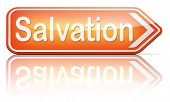 image of jesus sign  - salvation follow jesus and god to be rescued save your soul sign with text and word  - JPG