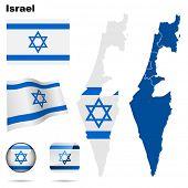 image of israeli flag  - Israel  set - JPG