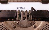image of old vintage typewriter  - Vintage inscription made by old typewriter google - JPG