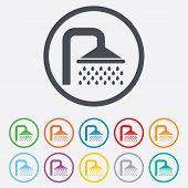pic of douche  - Shower sign icon - JPG