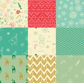 pic of pattern  - Colorful Xmas and New Year Doodles - JPG