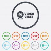 image of video chat  - Video chat sign icon - JPG