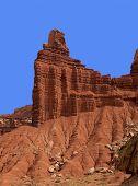 foto of chimney rock  - Close - JPG