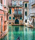 Venice, Italy, Canal and historic tenements poster